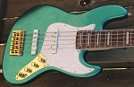 NPS -Nate Phillips Signature 5 string- Metallic Teal -  Rosewood fretboard - Delano Pickups  -Pike Audio Blue Box Preamp