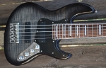 NEW! Black Flame K524 with Bartolini pickups J Quad coils- Bassmods MC3 preamp #1