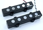 BIG PHATTY  5 String Pickups- Ceramic Magnet- Chrome Plated Poles-