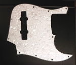 White Pearloid Pickguard  -  Fits Bassmods K534 2016 to current