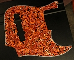 Tiger Pearloid Pickguard  Fits Bassmods K534 2016 to current